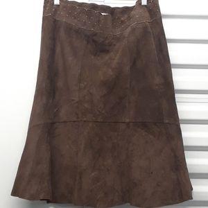 Cabi brown leather skirt sz. 10